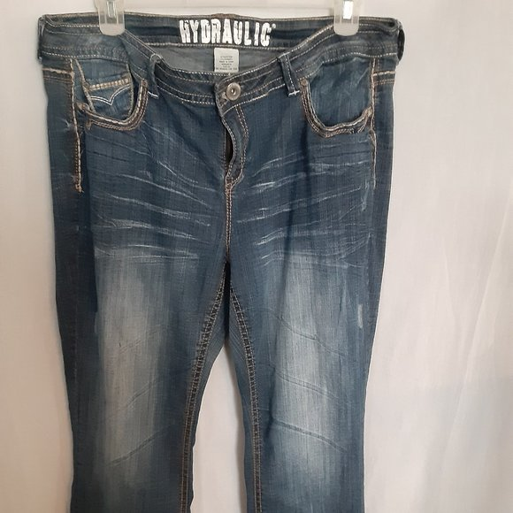 Womens hydraulic boot cut jeans size 20